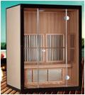 De verre Infrarode Zaal van de Sauna (2 personen)