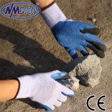 Перст и ладонь Nmsafety окунули перчатку безопасности латекса