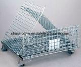 Memoria accatastabile piegante del metallo della rete metallica che impila contenitore