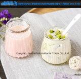Tazza sveglia di vetro della gelatina di latte del yogurt del pudding dei Cruets del dessert della Verticale-Banda