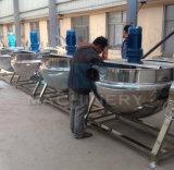 Caldera de cocinar vestida del vapor eléctrico del acero inoxidable con el mezclador usado para la cocina del atasco y del azúcar (ACE-JCG-063199)