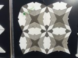 White Carrara Mix White Thassos Mármore Flower Shape Waterjet Mosaic