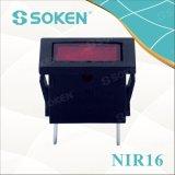 Luz de indicador miniatura Nir16 12V / 24V con bulbo de arroz 21 * 15mm