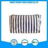 Sac cosmétique neuf de Tiolet de sac de lavage de sac de PVC de pistes claires de blanc