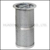 Elemento de filtro de acero inoxidable perforada malla de alambre de la cesta