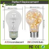 A15 2W E26 끈 전구 축제를 위한 온난한 백색 2700K 장식적인 LED 전구