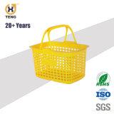 Xj6 Ecológicos cesta de compras de supermercado de plástico com duas pegas
