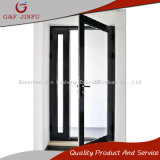 Graues Profil-Doppelt-Aluminiumhartglas-französische Türeinstieg-Türen