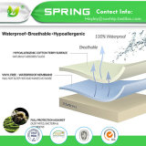 China proveedor algodón y poliéster anti-polvo Los ácaros de tamaño doble funda de colchón protector de colchón