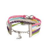 Mischungs-Farben-Leder-Mädchen-Form-Armband-Förderung-Geschenk-Schmucksachen