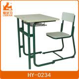 아주 튼튼한 녹색 나무로 되는 학교 단 하나 학생 책상 및 의자