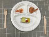"""Eco 100% biodégradable compostable papier jetable la vaisselle de table 10"""" à 3 compartiments de la plaque de bagasse"""