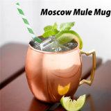 16oz Mok van de Muilezel van Moskou van de Kop van het Brons van het roestvrij staal de Koper Geplateerde