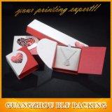 Tipo caixa do coração de presente da jóia do anel do papel de tampa