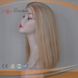 Rubia X completo Alopeica marrón claro encaje peluca. (PPG-L-0277)