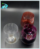 Taza plástica del vino de la taza de consumición de Stemware del animal doméstico