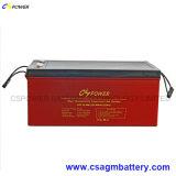 12V 250Ah Gel batterie solaire rechargeable pour chariot élévateur à fourche