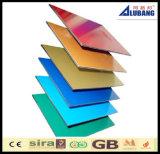 panneau composé en aluminium de matériaux de construction de bâtiments d'enduit de 4mm PVDF