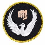 Soem-Großhandelszoll gesponnenes Abzeichen für Beutel-Schuluniform