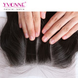 Venda por grosso de onda do corpo três parte de cabelo humano Lace Encerramento