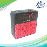Caja acústica estérea sin hilos de la música del altavoz portable de Bluetooth con el altavoz de la alarma del reloj de la visualización del tiempo del LED