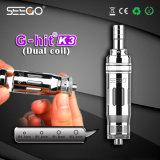 Seego는 K3 금속 관 녹색 연기 801 E 담배 Vape 펜을 G 명중했다