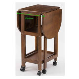 Tavolino da salotto piegante mobile di vendite dell'hotel del MDF dei piedini poco costosi caldi di legno solido