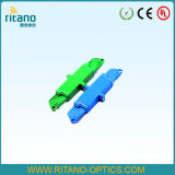 Adaptadores ópticos de fibra de E2000/APC con de pequeñas pérdidas en 0.2dB con la casa verde plástica