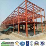 Pórtico de la construcción de edificios prefabricados de estructura de acero de almacenes baratos