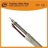 100% Cu, director de orquesta espuma de PE RG59 Cable Coaxial con cable de alimentación (RG59+2c) para el sistema de vigilancia