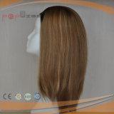 Machina fêz o cabelo humano louro unir a peruca da queda (PPG-l-0729)