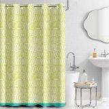 100% de poliéster Hotel Hookless cortina do chuveiro com Easy Care