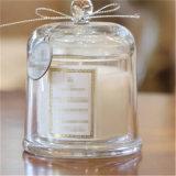 Vela de cera de soja con fragancia de lujo en la jarra de cristal y caja de cartón de alta gama