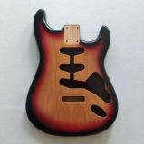 Surburst 색깔에서 2개 피스 오리 나무 시작 기타 바디 니트로 완성되는