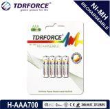 1.2V再充電可能で低い自己放電のニッケル金属水素化合物電池(HR03-AAA 900mAh)