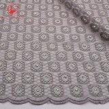 Tessuto materiale del merletto del merletto francese di alta qualità con le pietre per il vestito da partito