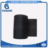 Tela não tecida de Spunlace do poliéster preto para materiais do vestuário