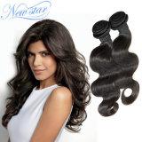 El cuerpo humano de onda de extensión de cabello virgen sin transformar el cabello de Brasil
