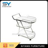 Chariot dinant à deux niveaux chinois à acier inoxydable de meubles