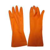 ゴム製クリーニングの手袋の黄色い世帯の乳液の台所手袋