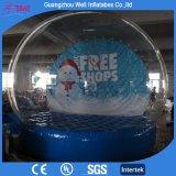 Globo gonfiabile trasparente della neve per gli eventi