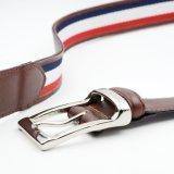 Las correas de plata de la hebilla del Pin hicieron punto las correas de cuero de la cintura de las correas para los hombres