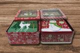 Transparente Fenster-Zinn-Kasten-Quadrat-Weihnachtsgeschenk-Biskuit-Kästen