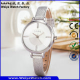 가죽끈 고전적인 우연한 석영 숙녀 손목 시계 (Wy-042E)
