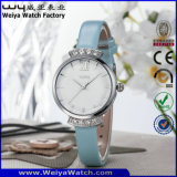 Kundenspezifische Firmenzeichen-Form-Uhr-Quarz-Dame-Armbanduhren (Wy-076A)