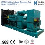 Hochspannungsset des generator-1500kVA 10-11kv mit Googol Motor 50Hz