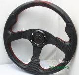 Roda de direção do carro do carbono de 14 polegadas com o suporte do alumínio do PVC