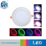 6+3W 9+3W 12+3W 18+6W rodada dupla iluminação do painel de LED de cor