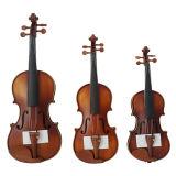 Violino marrone-rosso antico solido con gli accessori del Boxwood