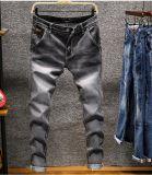 Homens por atacado 2017 calças de brim da sarja de Nimes do algodão das calças de brim do estiramento da forma